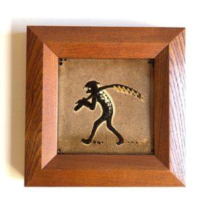 舩木研兒、河童、陶板、民藝、民陶、額装、壁掛け、アート