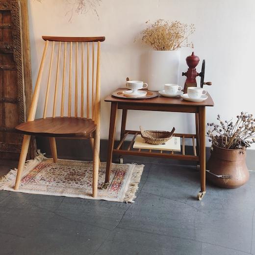 ヴィンテージインテリア、柏木工、シビルチェア、スポークチェア、イギリス家具、コーヒーテーブル