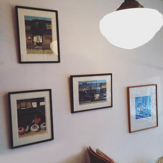 西嶋勝之、木版画、京町屋、京都、日本風景、河道屋、モダンインテリア、和モダン