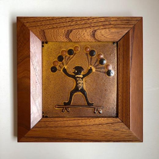 船木研兒、陶板、河童、スリップウェア、民藝、フォークアート、コレクション、バーナードリーチ