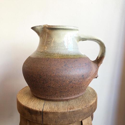 舩木研兒、手付壷、不志名焼、ピッチャー、民藝、民芸陶器、スリップウェア、バーナードリーチ