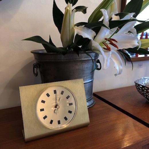 ヴィンテージクロック、時計、デスククロック、キンツレー、ドイツ、モダンデザイン