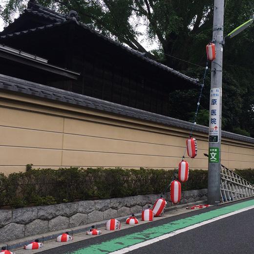 北澤八幡神社、大例祭、提灯