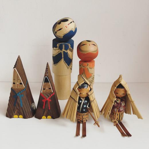 こけし、郷土玩具、雪ん子、ヴィンテージ雑貨、民芸品