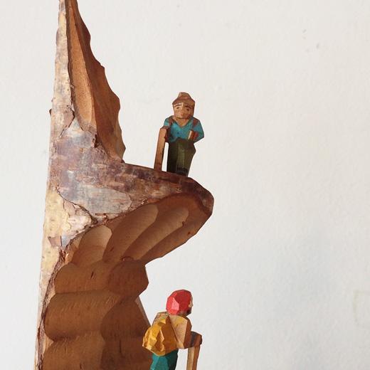 お土産こけし、ご当地土産、木彫り、一刀彫、蓼科、山登り、ミニチュア、ヴィンテージ