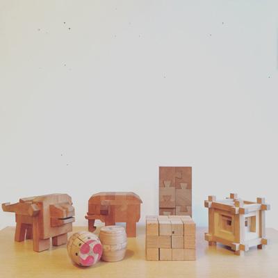 山中組木、パズル、知育玩具、クラフト