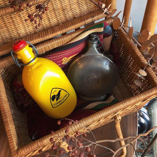グランテトラ、水筒、ヴィンテージキャンプ、スキットル、ヒップフラスコ、携帯用水筒