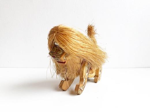 郷土玩具、獅子、縄人形、民芸品、フォークアート、ライオン