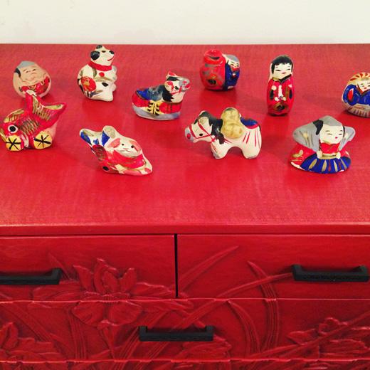宮内フサ、土人形、郷土人形、民藝、手工芸品、縁起物