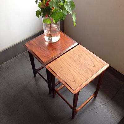 マルニ、ネストテーブル、チーク、ローズウッド、サイドテーブル、モダンデザイン、北欧