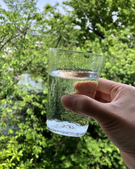淡島雅吉、しづくガラス、ガラス器、モダンガラス、モダンデザイン、1950年代、型吹き、ガラス工芸