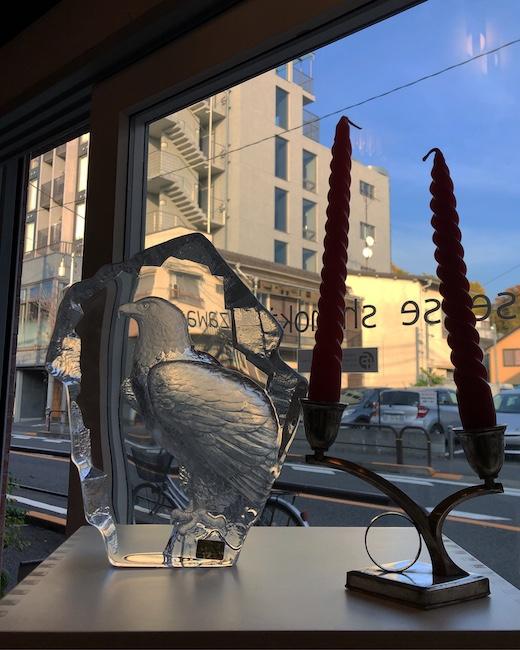 スウェーデン、ガラス彫刻、マッツジョナサン、マッツヨナソン、鷹、イーグル、ガラスオブジェ