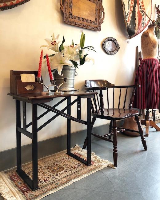 山葉文化椅子、茶卓子、松本民芸家具、キャプテンチェア、大正ロマン、和洋折衷、ヴィンテージ家具、民芸家具