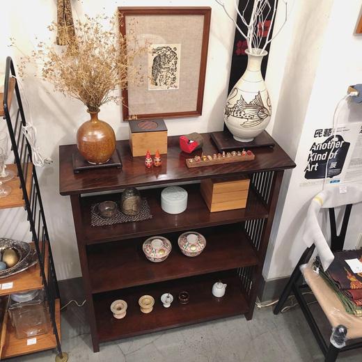 ヴィンテージ家具、松本民芸家具、書棚、本棚、飾棚、和モダンインテリア