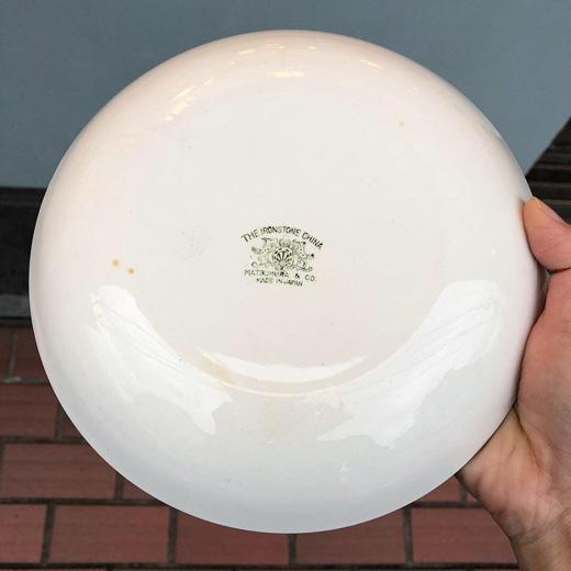 柳宗理、松村硬質陶器、白い陶器、深皿、モダンデザイン、ヴィンテージコレクション