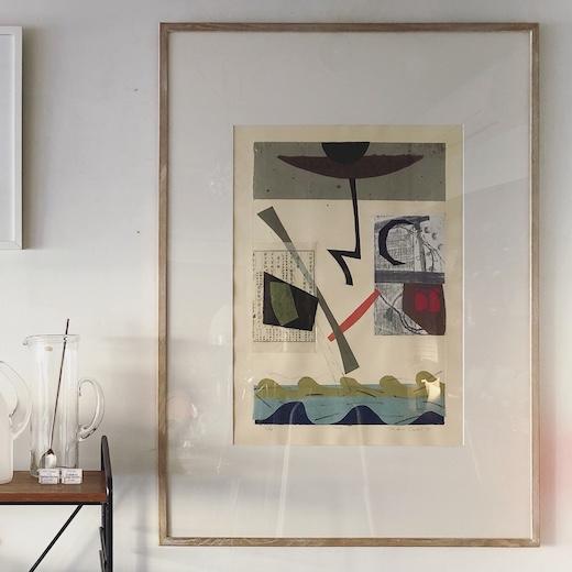 カーティス翠、銅版画、シンコレ、1995、モダンアート、大作
