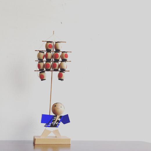 秋田、竿燈祭.夏祭り.伝統工芸.民芸品.無形文化財.土産物.mingei.kantoumatsuri.souvenir.vintage.craft.doll