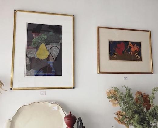 現代版画、馬渕聖、佐田勝、小口版画、リトグラフ、静物画、モダン版画