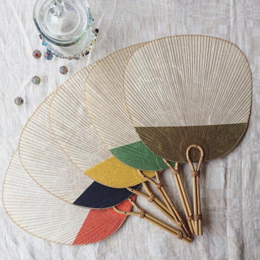 ヴィンテージ雑貨、団扇、うちわ、竹細工、クラフト、和紙、和モダン