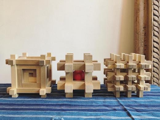 山中組木、組木パズル、モダンクラフト、柳宗理、山中成夫、幾何学形