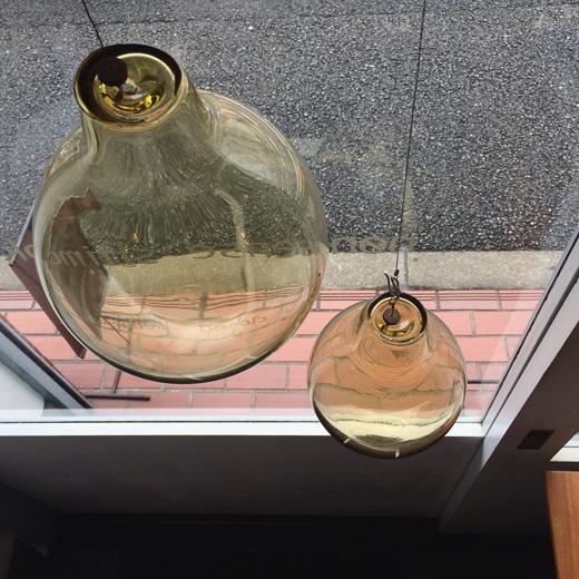 ヴィンテージ、ガラスオーナメント、ガラス玉、サンキャッチャー、吹きガラス