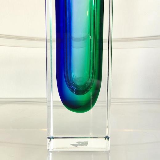 ムラノガラス、ガラスベース、ヴィンテージガラス、sommerso、mandruzzato