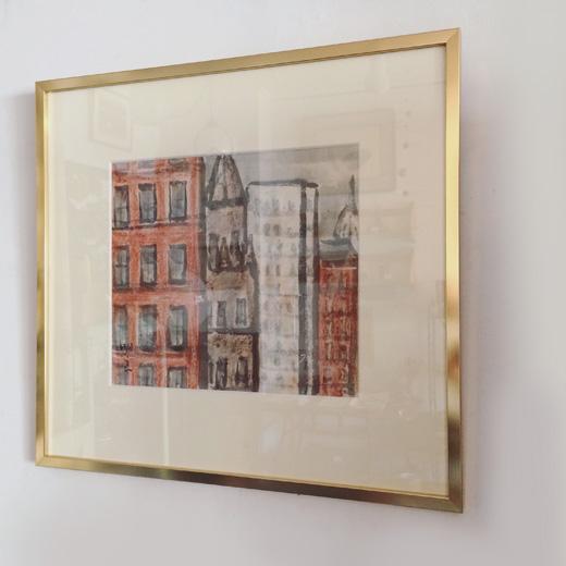 ミューヨーク、マンハッタン、色紙絵、水彩画、宮原明良、日本画