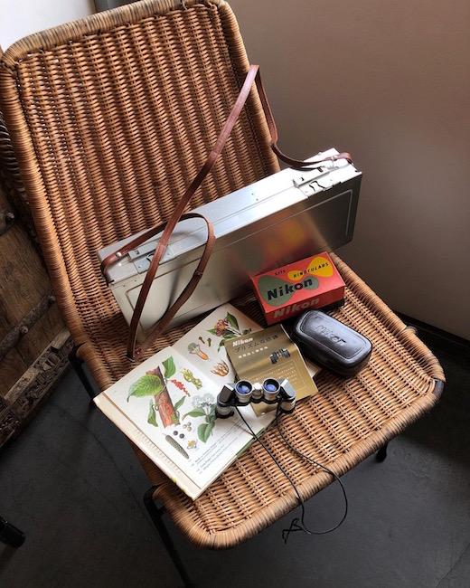 ヴィンテージ、ニコンプリズム双眼鏡、5×15、nikon、双眼鏡、月光荘、アルミ画箱