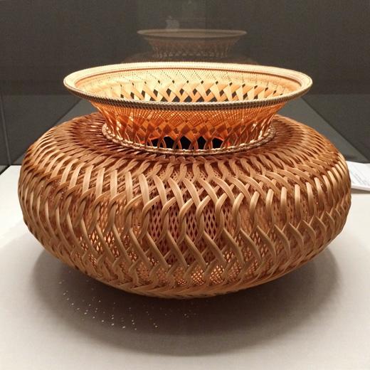 束編竹籠、藤沼昇、竹工芸、moa美術館