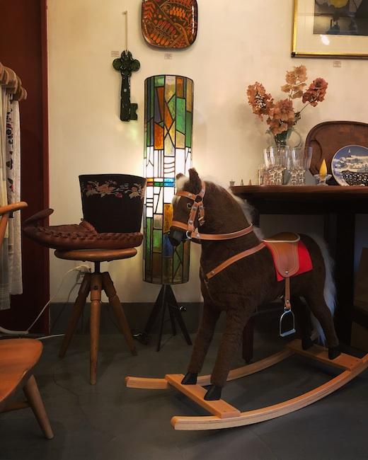 ヴィンテージ雑貨、クリスマスディスプレイ、木馬
