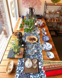 ナンセンス下北沢、テーブルコーディネート、日本の夏、和食器、ガラス器、涼の器、和モダン、ヴィンテージインテリア、アンティーク