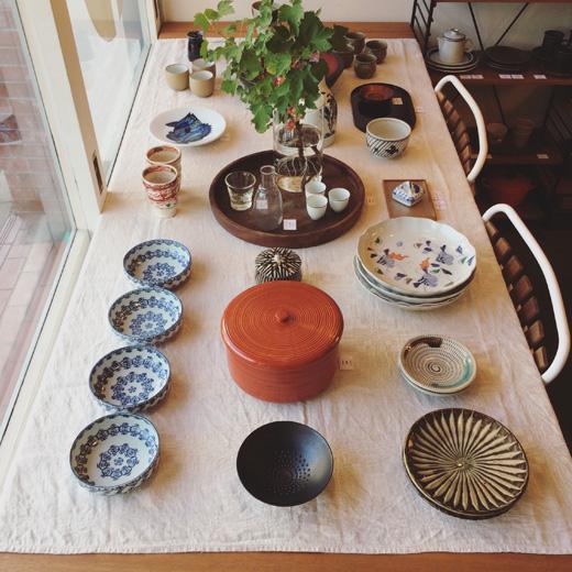 ナンセンス下北沢、和食器、ガラス器、ヴィンテージ、漆器、夏の器