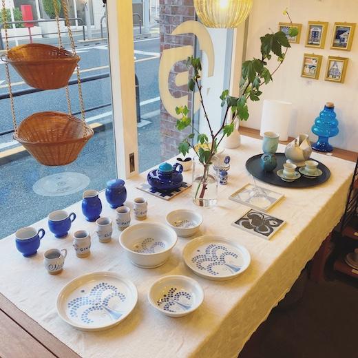 ナンセンス下北沢、テーブルコーディネート、和洋折衷、北欧食器、三浦勇、クラフト陶器