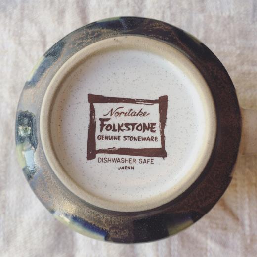 ノリタケ、フォークストーン、ストーンウェア、1970年代、デッドストック、レトロモダン、コーヒーカップソーサー