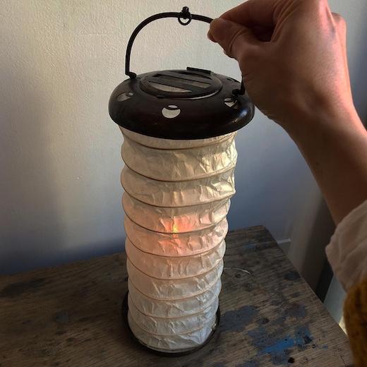 小田原提灯、アンティーク、携帯ランタン、提灯、伝統工芸
