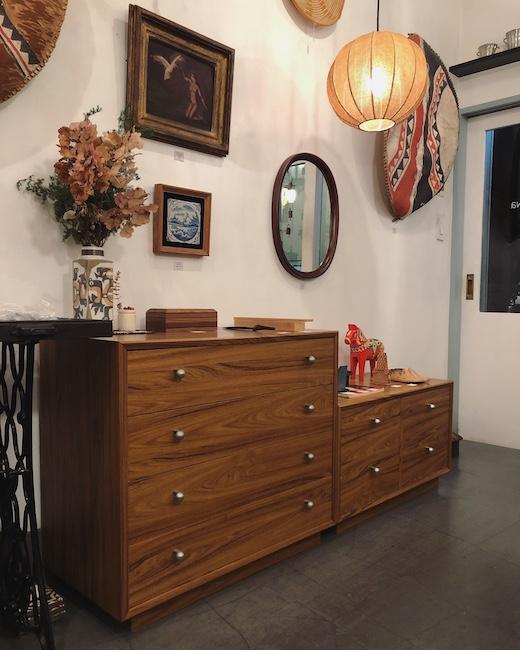 ヴィンテージ家具、チェスト、引き出し収納、オカムラ、GKデザイン、モダン家具、柳宗理、ミラー