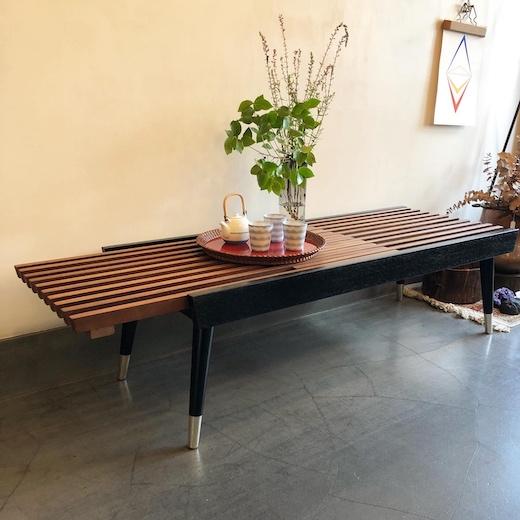 マルニ木工、オールドマルニ、エクステンション、ベンチ、テーブル、ジャパニーズモダン、ヴィンテージ家具、モダンインテリア