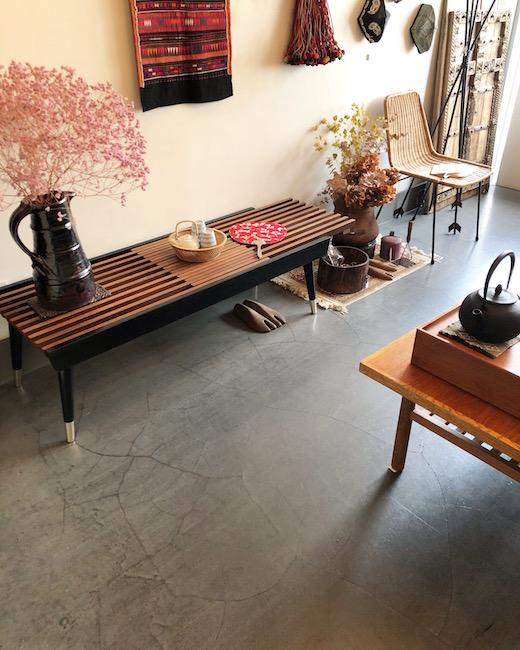マルニ、オールドマルニ、マルニ木工、ベンチ、縁台、コーヒーテーブル、ジャパニーズモダン、モダン家具