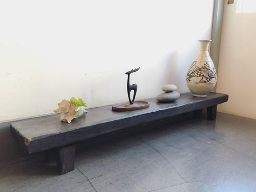 古木、テーブル、ディスプレイ台、プリミティブモダン、ヴィンテージインテリア、古材、鉢台