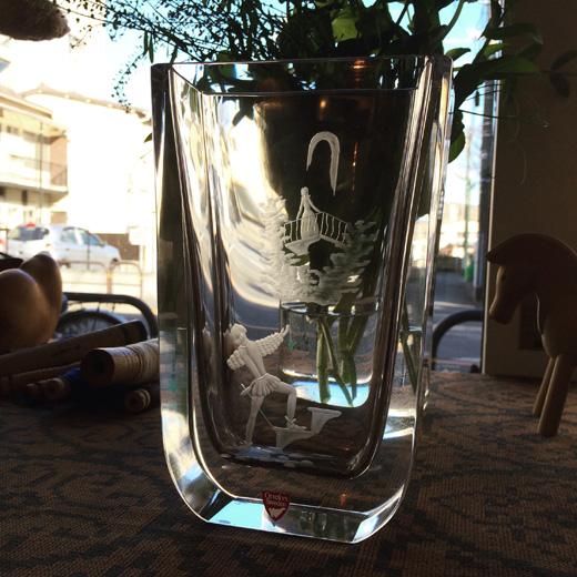 北欧ガラス、オレフォス、クスタルベース、ロミオとジュリエット、ヴィンテージ、orrefors、nilslandberg