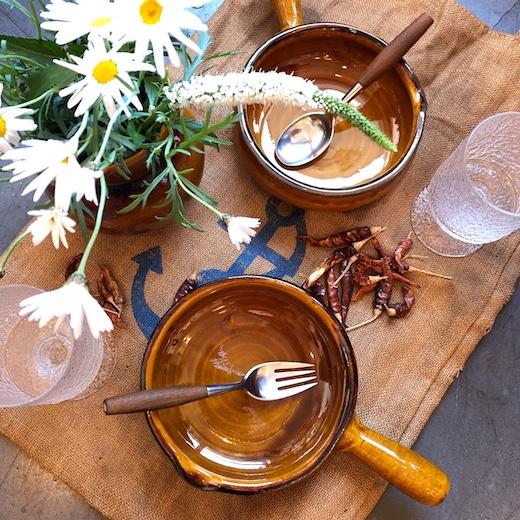 スフレンハイム焼き、アルザス地方、耐熱陶器、片手鍋、オーブンウェア