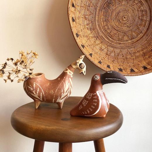 世界の民芸、ペルー、土鈴、土器、フォークアート