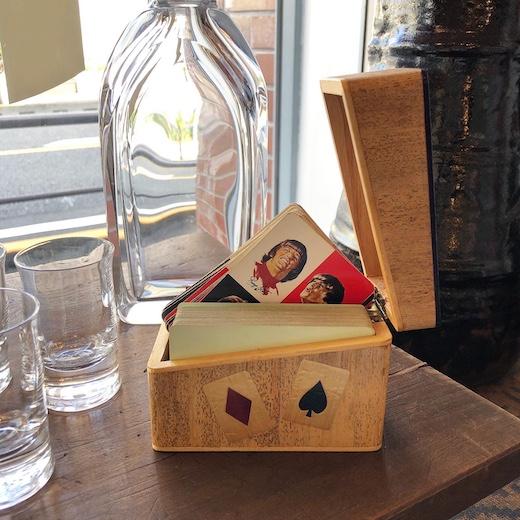 竹細工、竹皮張り、トランプケース、カードケース、小箱、ヴィンテージ、モダン