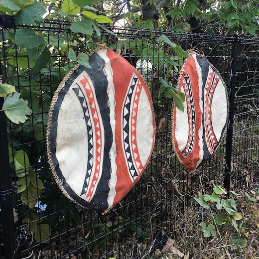 アフリカ美術、民族美術、マサイ族、盾、プリミティブアート、ヴィンテージ