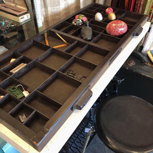 プリンタートレイ、ディスプレイ什器、アンティーク、古道具、コレクションケース