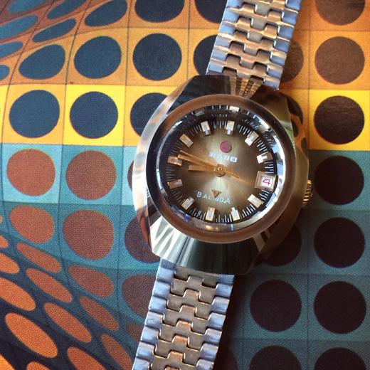 ヴィンテージウォッチ、腕時計、レディースウォッチ、ラドー、スイス、バルボア、RADO、カラー文字盤、モダンデザイン