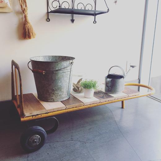 リメイク家具、ナンセンス下北沢、カート、台車、ローボード、ローテーブル