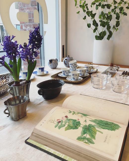 ヴィンテージ、ガーデン、ティータイム、ロイヤルコペンハーゲン、ローゼンタール、ヴィンテージ食器、牧野富太郎、植物図鑑