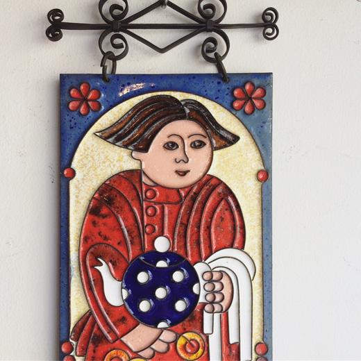 ロシア雑貨、ウォールデコレーション、エナメル、七宝、壁掛け、レトロモダン