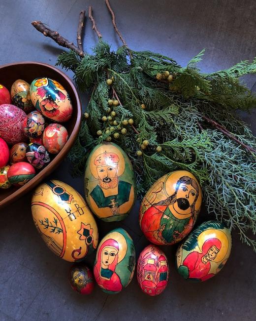 ロシア雑貨、イースターエッグ、クリスマスオーナメント、ヴィンテージ雑貨、マトリョーシカ